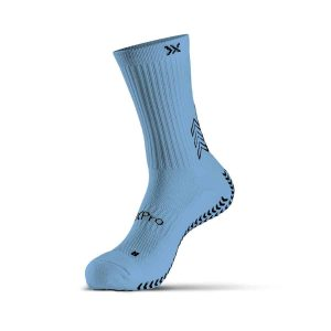 grip socks classic light blue
