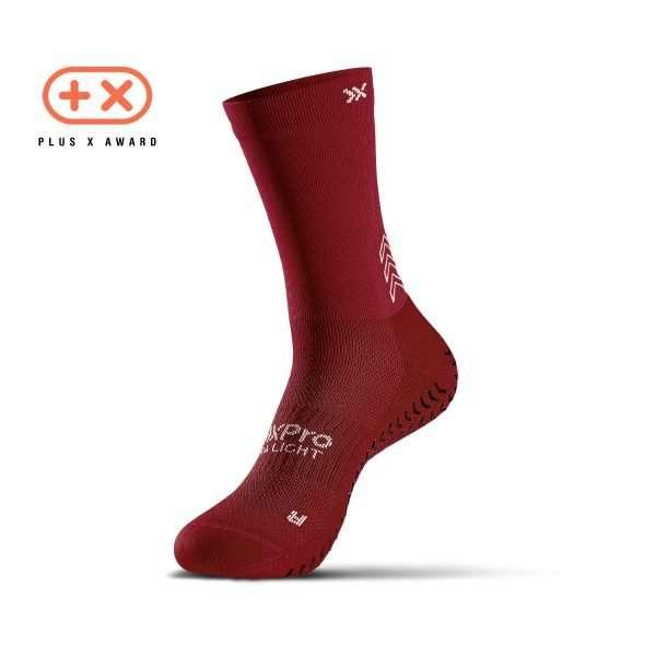 Soxpro | Ultra Light Grip Socks | Bordeaux