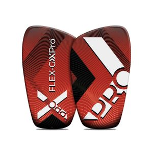 red shin guards
